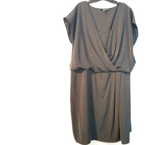 2X DKNYC Surplice Dress